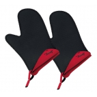 Spring Swiss Design: Paire de gants pour le four rouges
