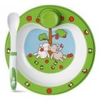 Emsa: Assiette chauffante pour enfant avec cuillère