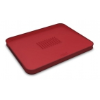 Joseph Joseph: Cut&Carve Plus Planche à découper antidérapante multi-fonction rouge