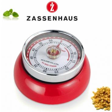 Zassenhaus: Retro Minuterie mécanique aimantée rouge