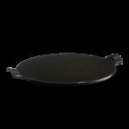 Emile Henry: Pierre à pizza lisse noire 37 cm