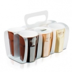 Asa Selection: Set de 6 tasses expresso coloris café