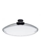 Spring Swiss Design: Couvercle en verre avec bouchon vapeur réglable 24 cm