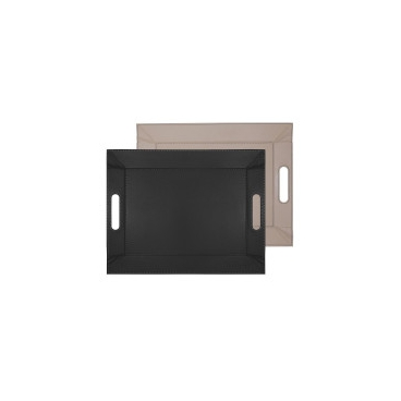 FreeForm: Plateau magique Taupe & Noir 45x35cm