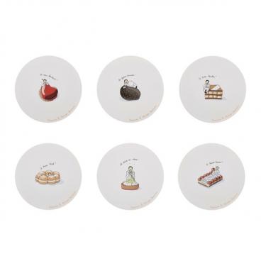 Guy Degrenne: Conticini Coffret de 6 assiettes dessert