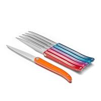 TB: Set de 6 couteaux à steak de couleurs Laguiole Evolution