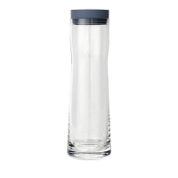 Blomus: Splash Carafe à eau/jus transparente & bleue