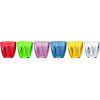 Guzzini: Set de 6 verres multicolors