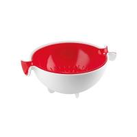 Guzzini: Spin&Drain Passoire rouge avec bol