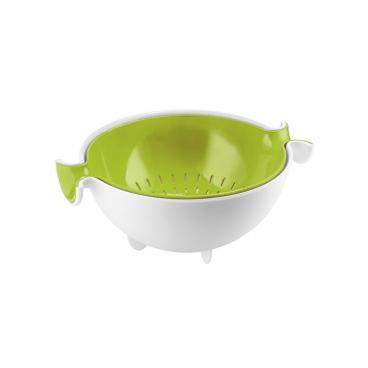Guzzini: Spin&Drain Passoire verte avec bol