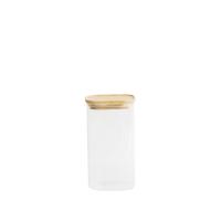 Peebly:  Boîte hermétique carrée en verre et bambou 1,4 L
