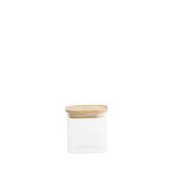 Peebly:  Boîte hermétique carrée en verre et bambou 0,8 L