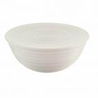 Guzzini: Tierra Saladier-Bol blanc 25 cm avec couvercle