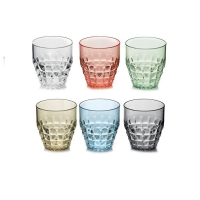 Guzzini: Tiffany Set de 6 verres bas