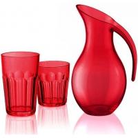 Guzzini: Gift box Carafe et set de 6 verres multicolors